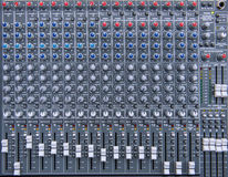 equipment for sound mixer control, electornic device Stock Photo