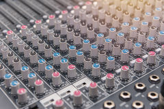 equipment for sound mixer control, electornic device Stock Photography