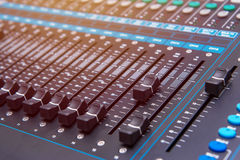 equipment for sound mixer control, electornic device Stock Images