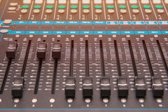 equipment for sound mixer control, electornic device Royalty Free Stock Photo