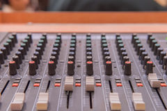equipment for sound mixer control, electronic device Royalty Free Stock Photography
