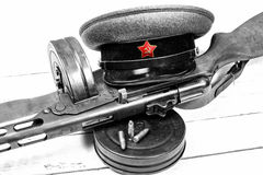 Equipment of the Soviet soldier during World War II Royalty Free Stock Photo