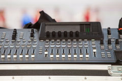 Equipment for stage sound on concert Royalty Free Stock Photos