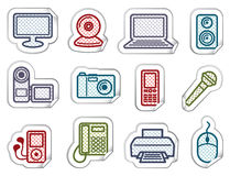 Equipment stickers Stock Photography