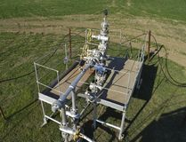 The equipment and technologies on oil fields. Oil well Stock Photos