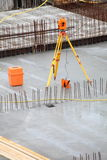 Equipment theodolite tool at construction site Royalty Free Stock Photos