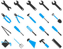 Equipment and Tools Icons Stock Photography