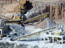 Equipment and tools in an open pit mine Royalty Free Stock Photography