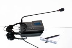 Equipment for translating languages stock images