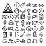Equipment Travel and sea icons Royalty Free Stock Photography