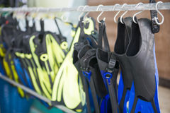 The equipment used for diving Royalty Free Stock Image