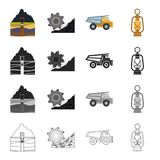 Equipment, useful, fossil and other web icon in cartoon style. Lighting, mining, industry icons in set collection. Equipment, useful, fossil and other  icon in Stock Photography