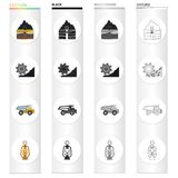 Equipment, useful, fossil and other web icon in cartoon style. Lighting, mining, industry icons in set collection. Equipment, useful, fossil and other  icon in Stock Image