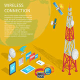Equipment of Wireless Connection High Tower Beep Royalty Free Stock Photos