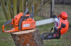 Equipment woodcutter, South Bohemia Stock Image