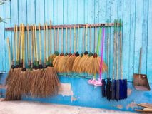 Equipments for cleaning. In school Royalty Free Stock Image