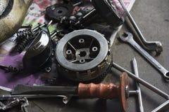 Equipments dla naprawiać motocykl fotografia stock