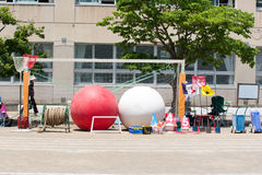 Equipments for Japanese school sports festival Royalty Free Stock Photos