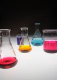 Equipments for laboratory. With colored samples Royalty Free Stock Photography
