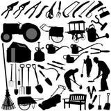 equipments ogródek uprawiają wektora Obrazy Stock
