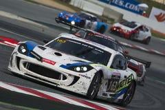 Equipo óptimo del Motorsport Ginetta G55 24 horas de Barcelona Imagenes de archivo