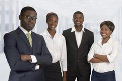 Equipo africano del negocio Fotos de archivo