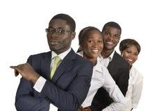 Equipo africano del negocio foto de archivo libre de regalías