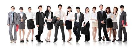 Equipo asiático del negocio Fotos de archivo