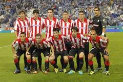 Equipo atlético de Bilbao del club Fotografía de archivo