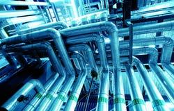 Equipo, cables y tubería Fotografía de archivo