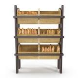 Equipo comercial para la venta del pan Front View En blanco 3D ejemplo, trayectoria de recortes Foto de archivo