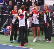 Equipo de Alemania en Fed Cup en Bratislava Fotografía de archivo