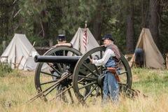 Equipo de arma joven de la unión Fotografía de archivo