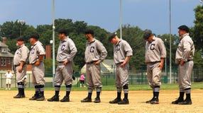 Equipo de béisbol Imagen de archivo libre de regalías