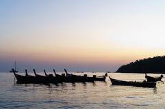 Equipo de barco en el mar Fotografía de archivo