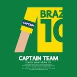 Equipo de capitán Soccer /Football del Brasil Imagen de archivo