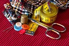 Equipo de costura Imagen de archivo libre de regalías