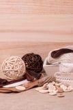 Equipo de costura del arte. Accesorios de la adaptación Fotos de archivo