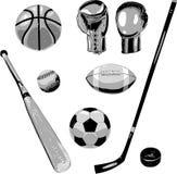 Equipo de deportes Foto de archivo libre de regalías