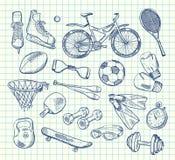 Equipo de deportes dibujado mano del vector libre illustration