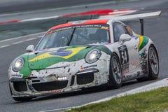 Equipo de Drivex Porsche 911 24 horas de Barcelona Foto de archivo libre de regalías