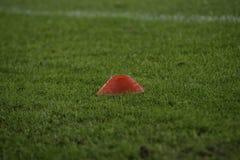 Equipo de entrenamiento de campo de fútbol del fútbol Imagen de archivo libre de regalías