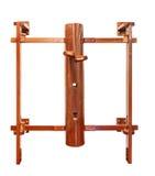 Equipo de entrenamiento simulado de Wing Chun /wooden aislado en blanco imagenes de archivo