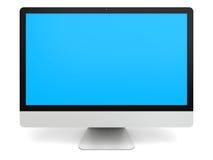 Equipo de escritorio con la pantalla azul Foto de archivo