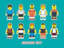 Equipo de fútbol 1 Foto de archivo libre de regalías