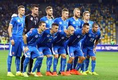 Equipo de fútbol del nacional de Eslovaquia Fotografía de archivo