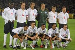 Equipo de fútbol del nacional de Inglaterra Fotografía de archivo libre de regalías