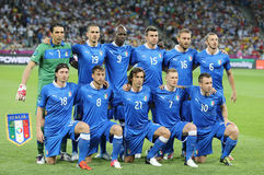 Equipo de fútbol del nacional de Italia Imagenes de archivo
