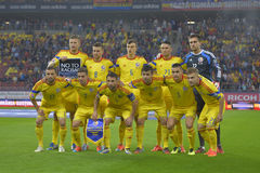 Equipo de fútbol del nacional de Rumania Imagen de archivo