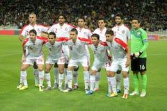 Equipo de fútbol del nacional de Túnez Fotos de archivo libres de regalías